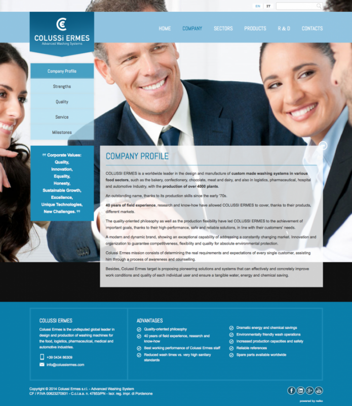 Una nuova immagine web per Colussi Ermes