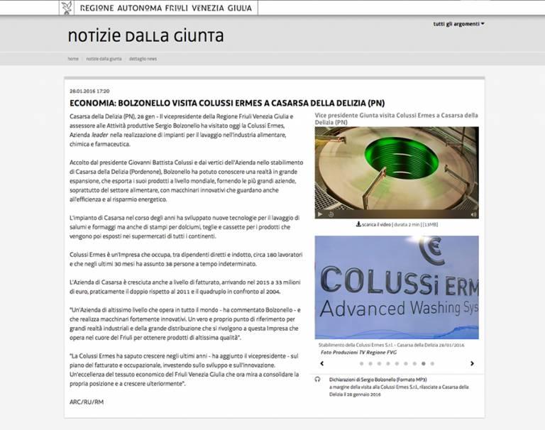 Regione Autonoma Friuli Venezia Giulia – Notizia della Giunta
